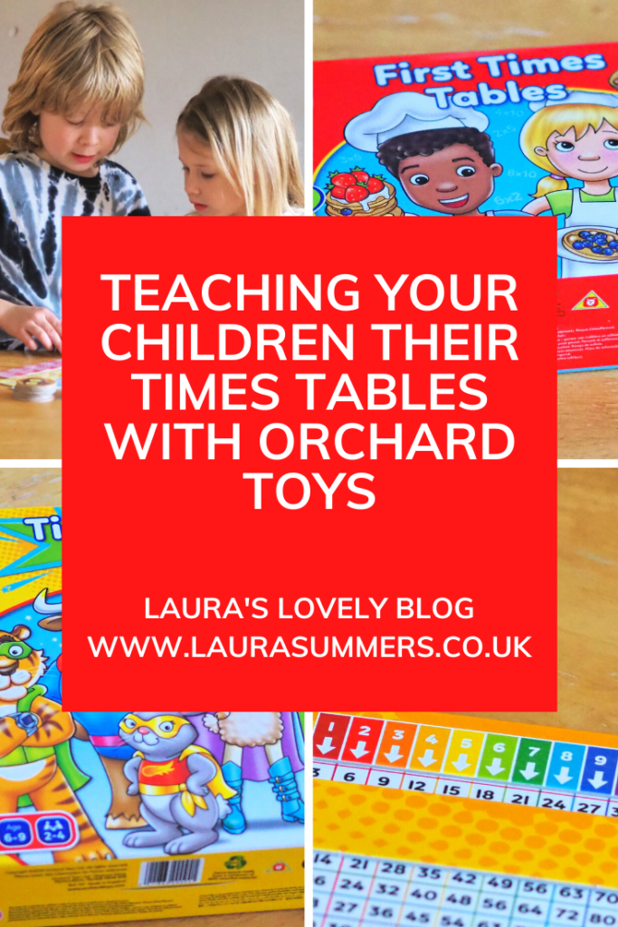 Teaching your children their Times Tables with Orchard Toys. A review of My first Times Tables and Times tables heroes by Orchard Toys and how they are helping my children to learn their times tables in a fun way