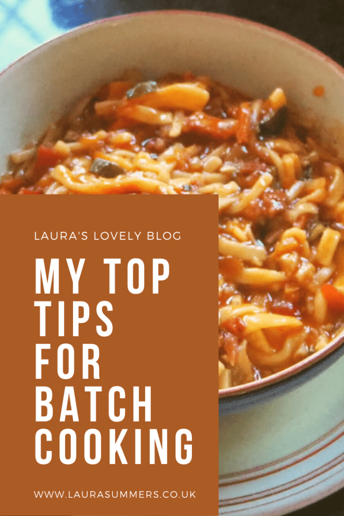 My Top Tips for Batch Cooking. Bolognese, soup, stews, casseroles and something sweet. How batch cooking can save time and use up old ingredients.