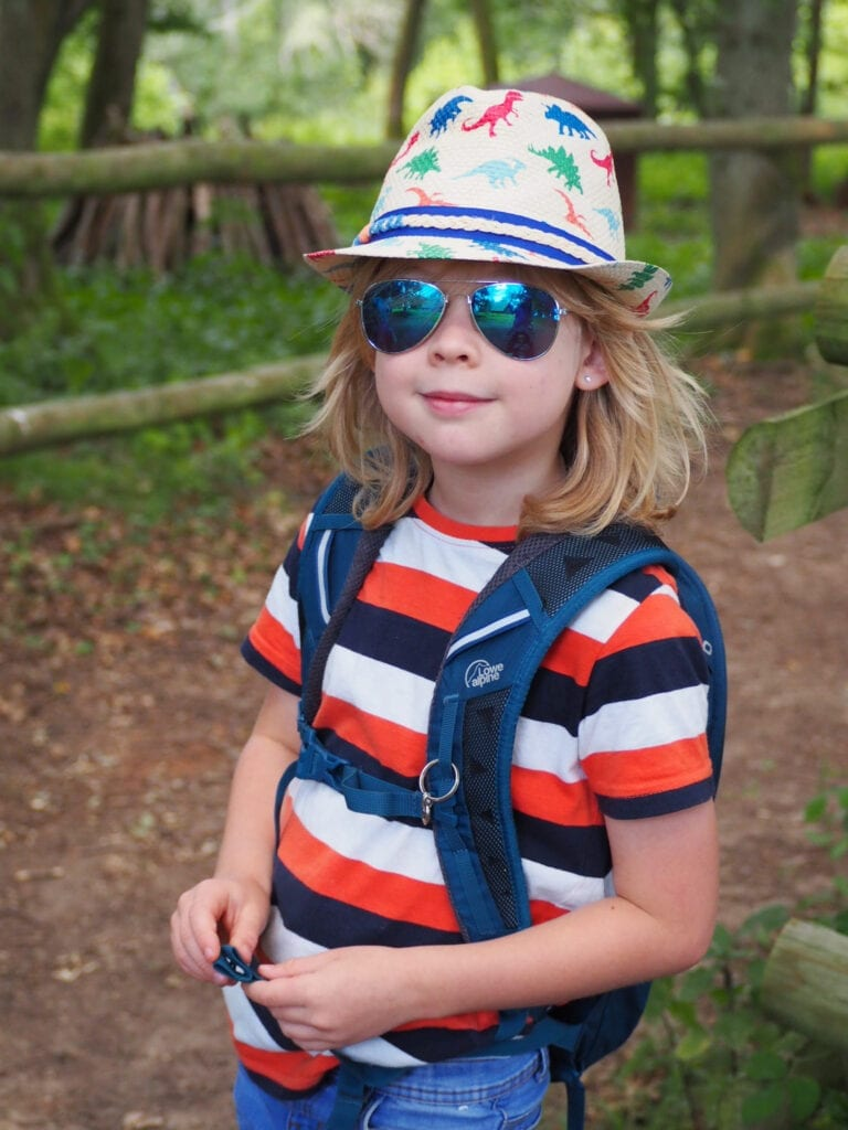 Loved, Read and Watched - July 2020. Picture of Logan in sunglasses and a dinosaur trilby hat