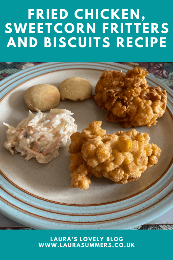 How to Make a Fried Chicken Feast. How to make fried chicken, sweetcorn fritters and American biscuits. Easy to follow recipes. Scrummy comfort food for the whole family.