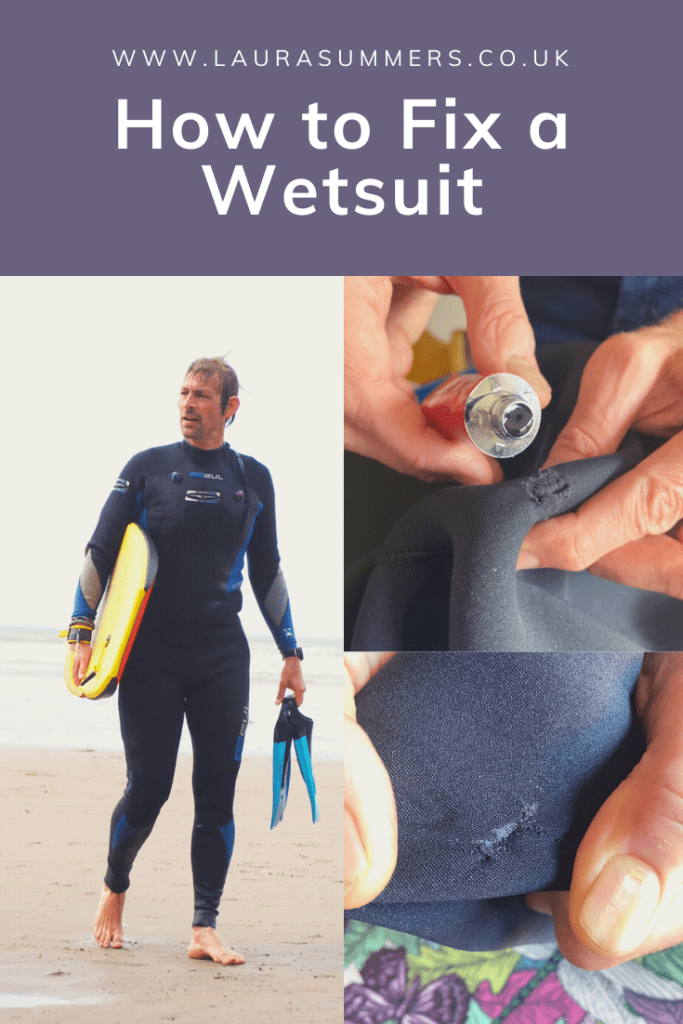 How to Fix a Wetsuit. Step by step simple and easy to follow instructions on how to fix a wetsuit if you tear or damage it.