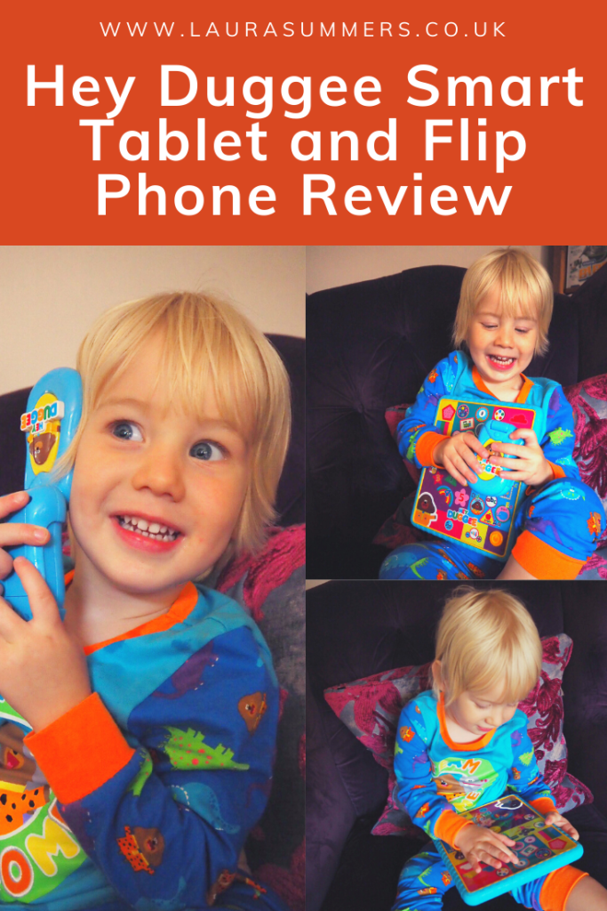 Hey Duggee Smart Tablet and Flip Phone Review. The Hey Duggge tablet and flip phone are great toys for any Hey Duggee fan. Fun as well as interactive and educational. It helps children learn their colours and with number and letter recognition.