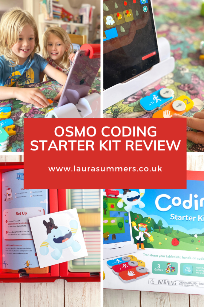 Osmo Coding Starter Kit Review. A kit that you add onto your tablet that comes with clever and colourful bricks that introduces your child to coding in a fun and engaging way.