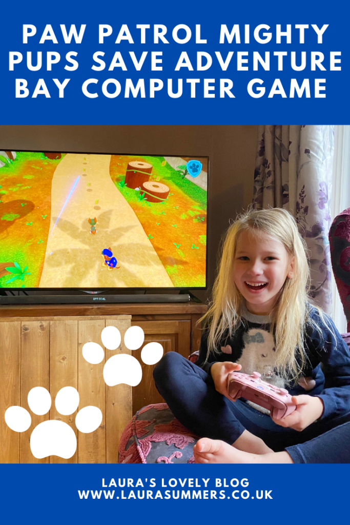 Paw Patrol Mighty Pups Save Adventure Bay Computer Game Review. If you have an Xbox, Playstation, Switch or PC in the house and you have Paw Patrol fans I would recommend this game without question.  As I said, with the strength of the Paw Patrol brand this could have been rubbish and it would still sell, it's actually one of the best games I've played so far for younger gamers because it gets the level so right.