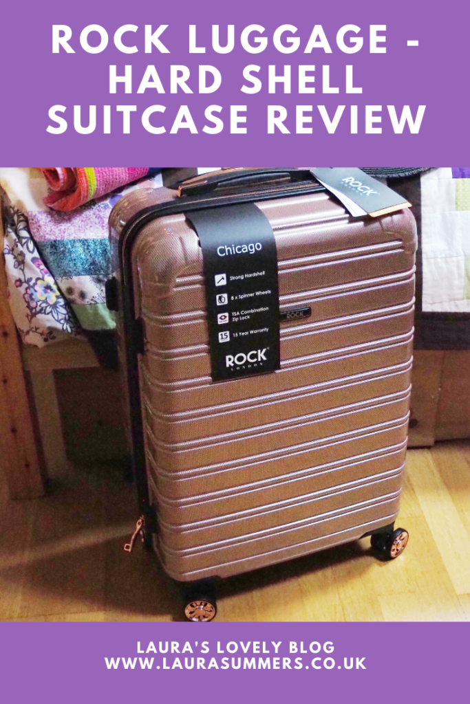 Rock Luggage - Hard Shell Suitcase Review. A review of the rose pink hardshell suitcase from Rock Luggage. Lovely to look at lots of organisational pockets and security features.