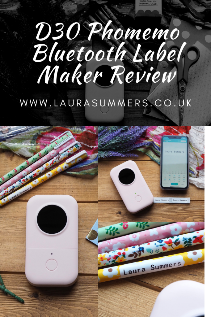 D30 Phomemo Bluetooth Label Maker Review. A bluetooth, inkless label printer, that small portable and looks good too. Great for organising your home.
