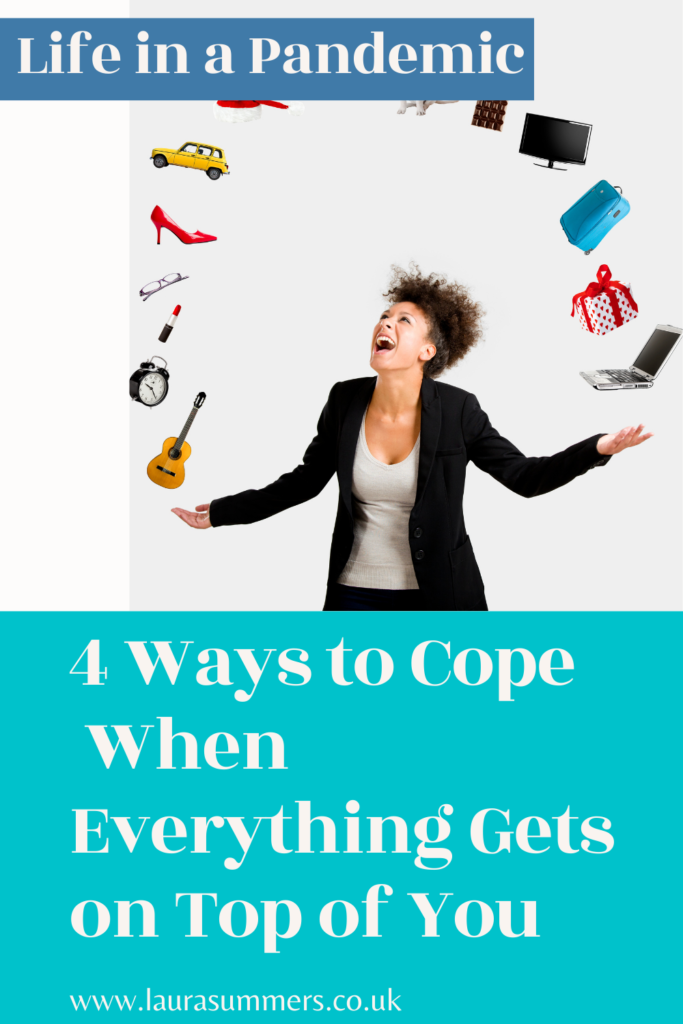 4 Ways to Cope When Everything Gets on Top of You. It's very easy for things to get on top of you at the moment juggling life, homeschool and a pandemic. Here are few ways that help me to cope.