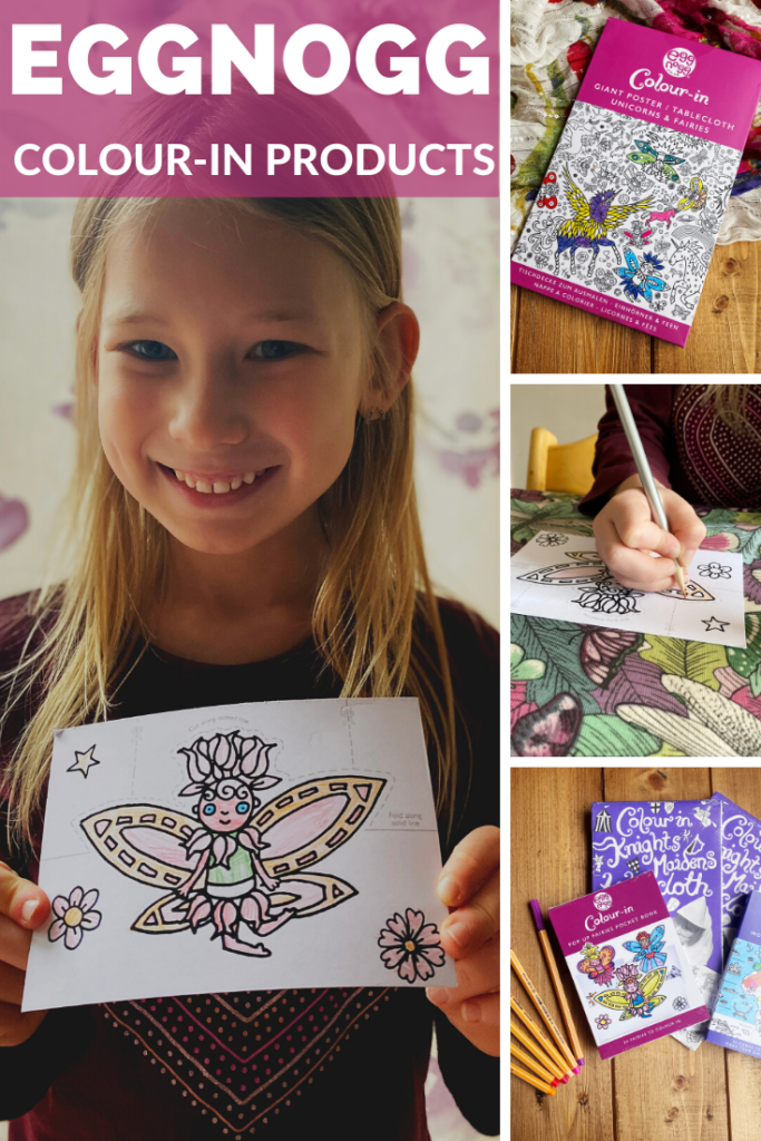 Eggnogg Colour-In Products & Giveaway. A great activity for children to do at home. From colour-in tablecloths, to postcards.