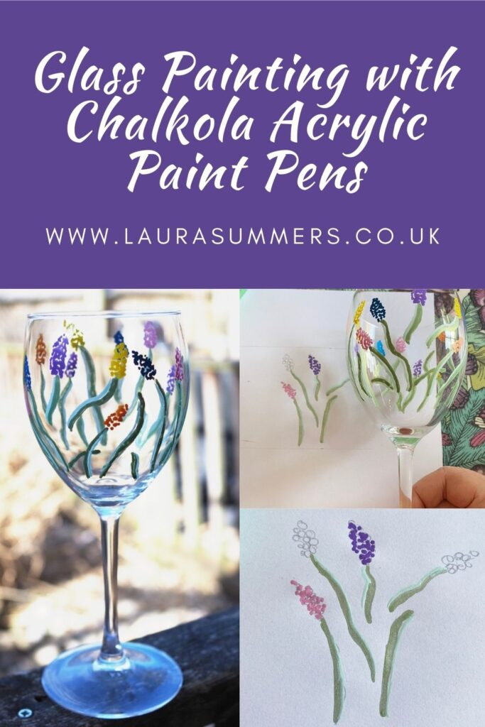 Glass Painting with Chalkola Acrylic Paint Pens. How I gave an old glass a new lease of life with acrylic pens. This would also make a great and thoughtful gift too.