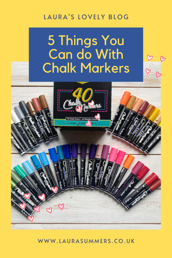 5 Things You Can do With Chalk Markers. Not sure what you can use chalk markers for? There are lots of things as they are so adaptable. Here are 5 creative uses for chalk pens.