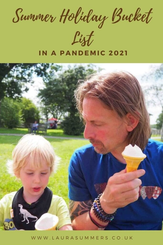 Summer Holiday Bucket List In A Pandemic 2021. A list of the things we want to do this summer taking the pandemic into consideration.