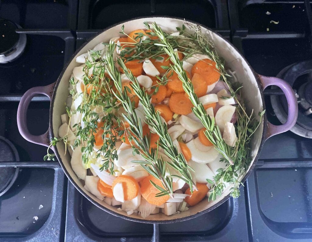 Poularde a la Bourgeoise Recipe. A French, one pot chicken recipe that's a great alternative for Sunday lunch