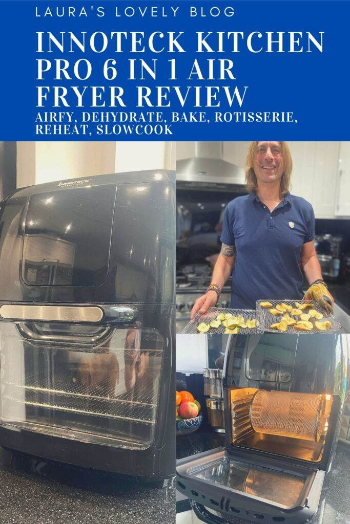 Innoteck Kitchen Pro 6 In 1 Air Fryer Review. A powerful and multi-purpose airfryer that dehydrates, has a rotisserie, bakes and reheats too